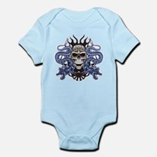 Blue Skull.png Infant Bodysuit