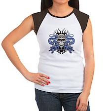 Blue Skull.png Women's Cap Sleeve T-Shirt