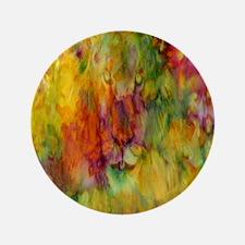 """tie dye colorful lion art illustration 3.5"""" Button"""