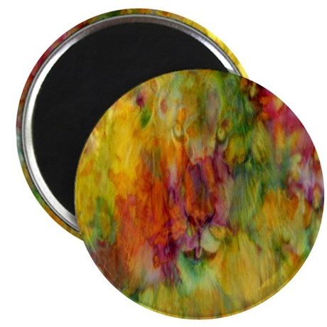 tie dye colorful lion art illustration Magnet