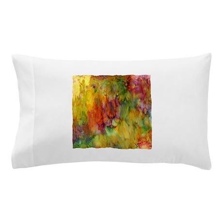 tie dye colorful lion art illustration Pillow Case