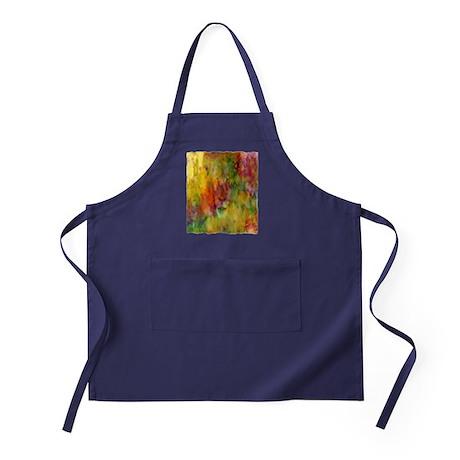 tie dye colorful lion art illustration Apron (dark