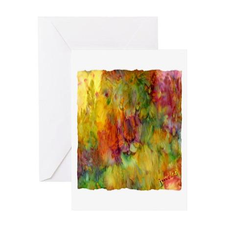 tie dye colorful lion art illustration Greeting Ca