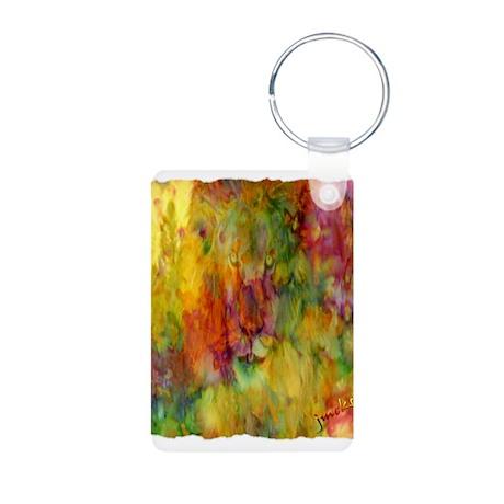 tie dye colorful lion art illustration Aluminum Ph