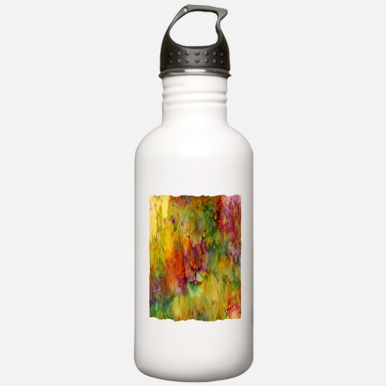 tie dye colorful lion art illustration Water Bottle
