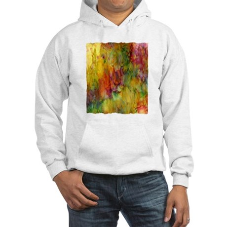 tie dye colorful lion art illustration Hooded Swea