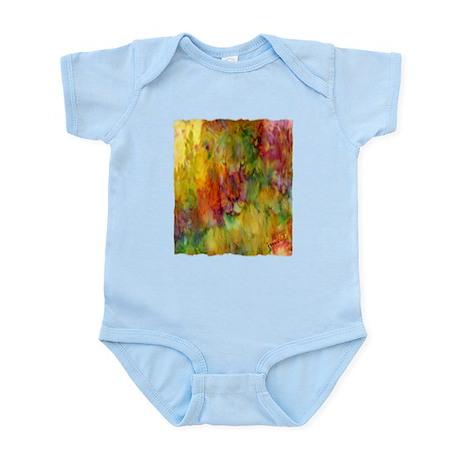 tie dye colorful lion art illustration Infant Body