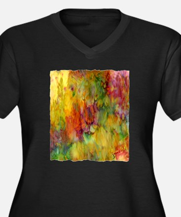 tie dye colorful lion art illustration Women's Plu
