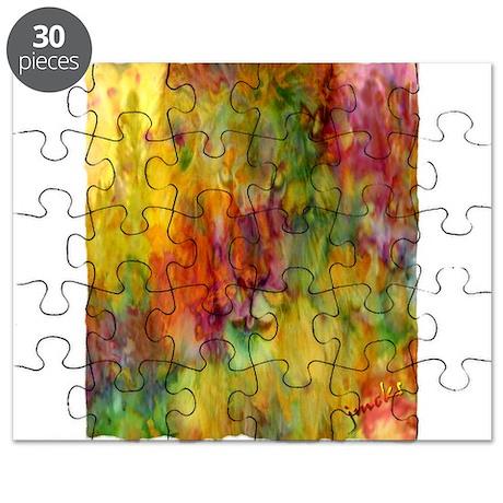 tie dye colorful lion art illustration Puzzle