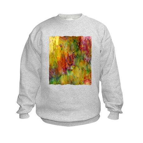 tie dye colorful lion art illustration Kids Sweats