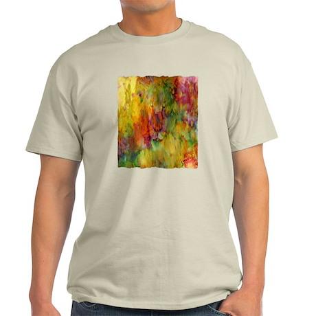tie dye colorful lion art illustration Light T-Shi