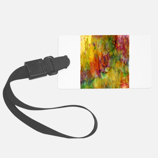 tie dye colorful lion art illustration Luggage Tag