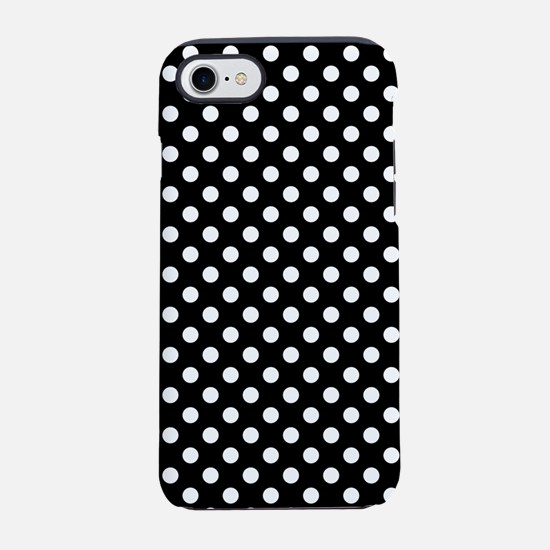 Black and White Polka Dots iPhone 7 Tough Case