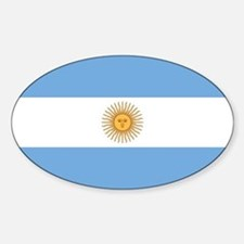Argentina Flag Sticker (Oval)