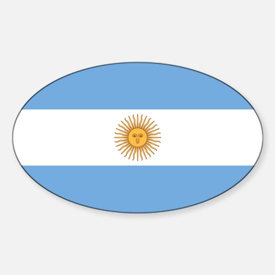 Argentina Flag Sticker (Oval)