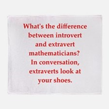 math joke Throw Blanket