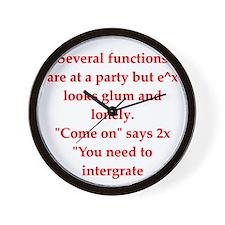 math joke Wall Clock