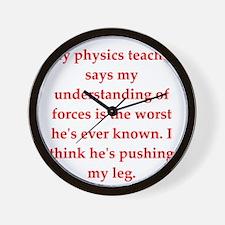 physics Wall Clock