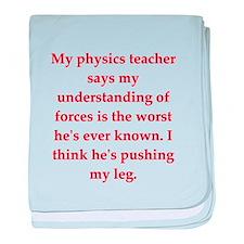 physics baby blanket