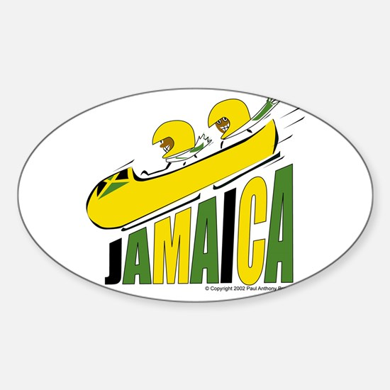 Jamaica Bobsled Oval Decal