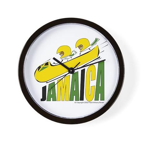 Jamaica Bobsled Wall Clock