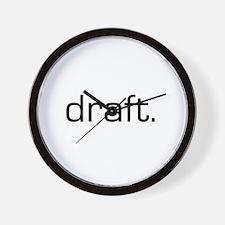 Draft Wall Clock
