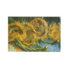 Van Gogh Four Cut Sunflowers Magnets