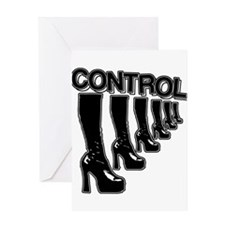 CONTROL (in high heels) Greeting Card