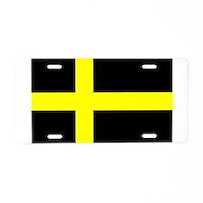 Flag of Härjedalen Aluminum License Plate
