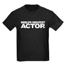Worlds Greatest Actor Kids Dark T-Shirt