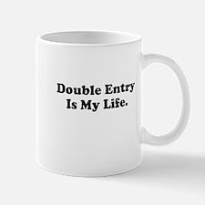 Double Entry Motivational Demotivational Mug