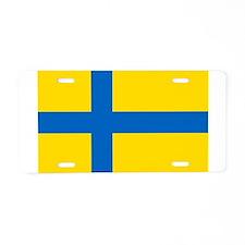 Flag of Östragötland Aluminum License Plate