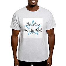 CHRISTIAN IS MY IDOL Ash Grey T-Shirt