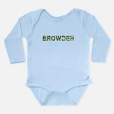 Browder, Vintage Camo, Long Sleeve Infant Bodysuit