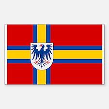 Flag of Värmland Sticker (Rectangle)