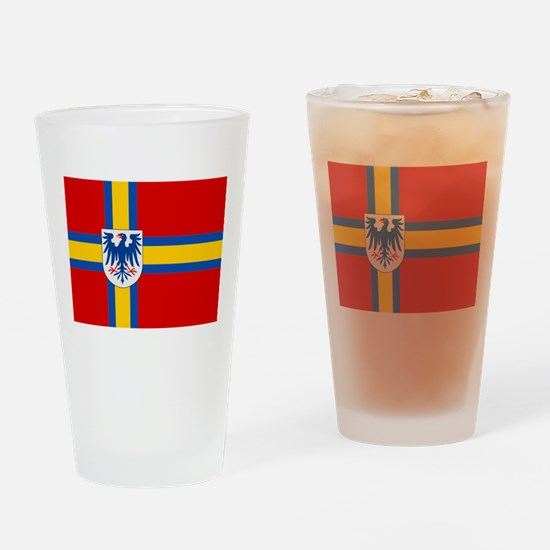 Flag of Värmland Drinking Glass