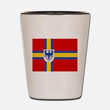 Flag of Värmland Shot Glass