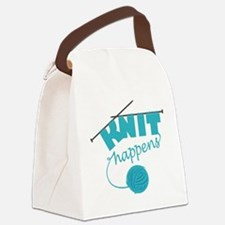 Funny Knitting needle Canvas Lunch Bag