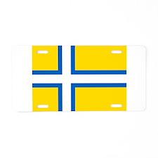 Flag of Västergötland Aluminum License Plate