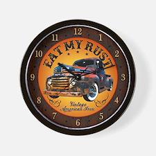 Rusty Rat Rod Truck Wall Clock