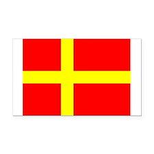 Flag of Skåne Rectangle Car Magnet