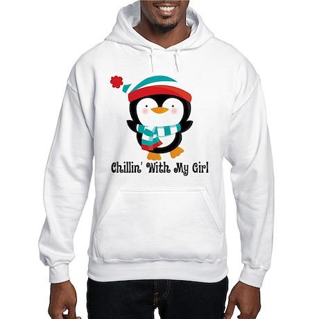 Chillin With My Girl Penguin Hooded Sweatshirt