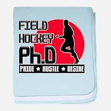 Field Hockey Ph.D baby blanket
