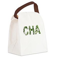 Cha, Vintage Camo, Canvas Lunch Bag