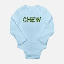 Chew, Vintage Camo, Long Sleeve Infant Bodysuit