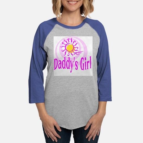 10x10_DADDYS_GIRL_CL.png Womens Baseball Tee