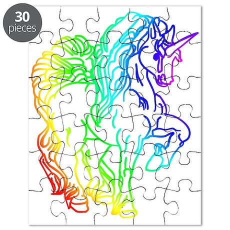 Rainbow Unicorn Puzzle