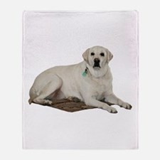 Yellow lab Throw Blanket