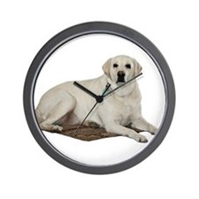 Yellow lab Wall Clock