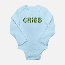 Cribb, Vintage Camo, Long Sleeve Infant Bodysuit
